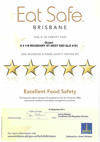 Five Star Food Safety Rating