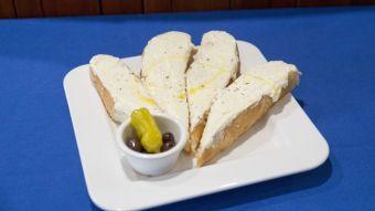 Creamed Feta on Cyprus Bread